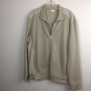 AWESOME CALVIN KLEIN FULL ZIP SWEATER SIZE LARGE